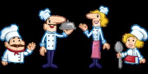 4人の料理人たち