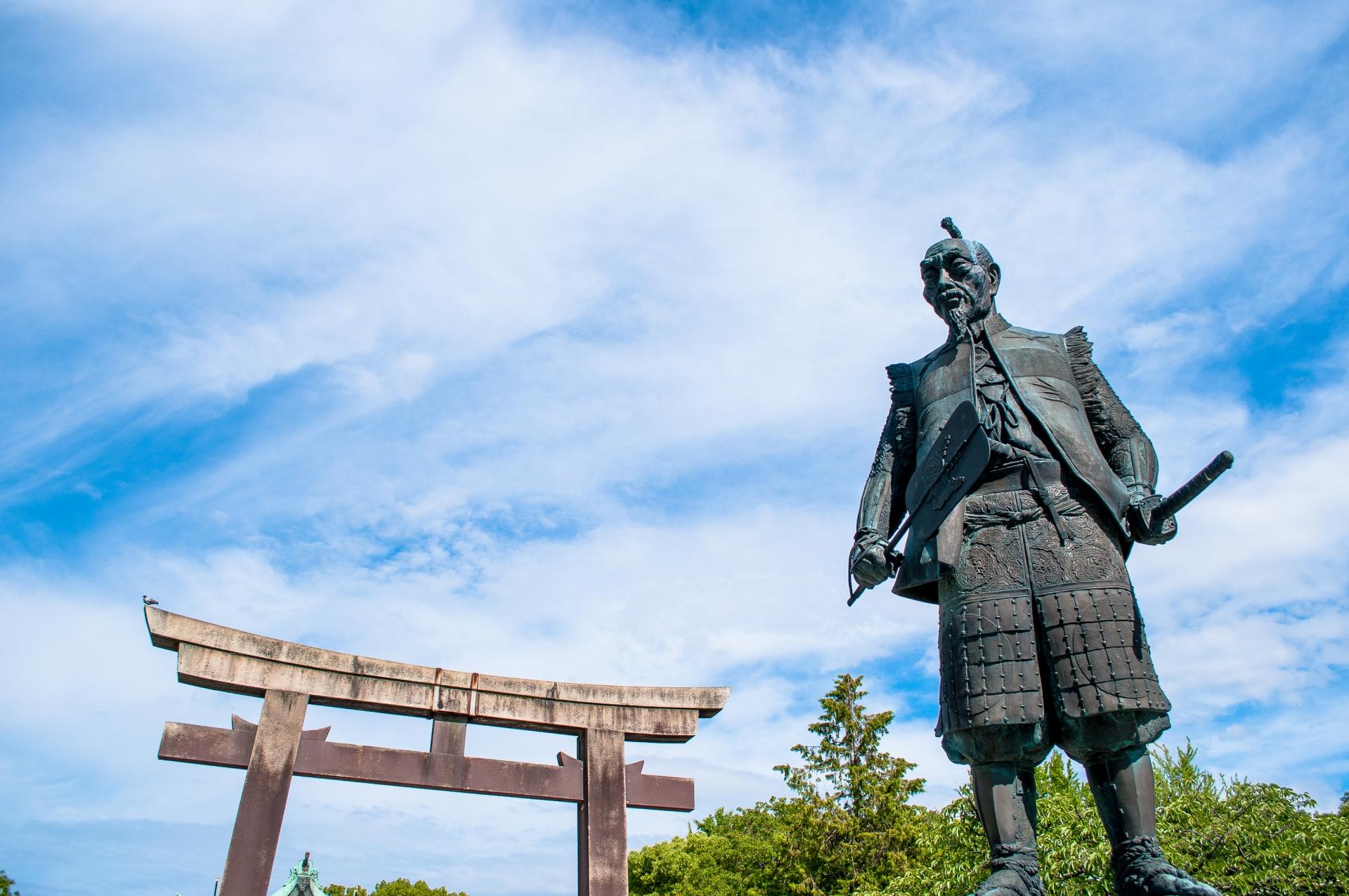 豊臣秀吉の像