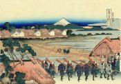 富士山と城を建てる人