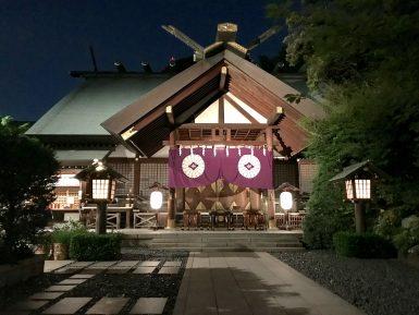 東京大神宮のライトアップ