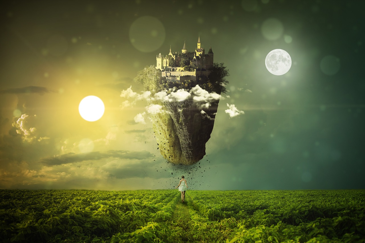 神秘的な城