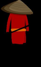 刀をもった赤い人