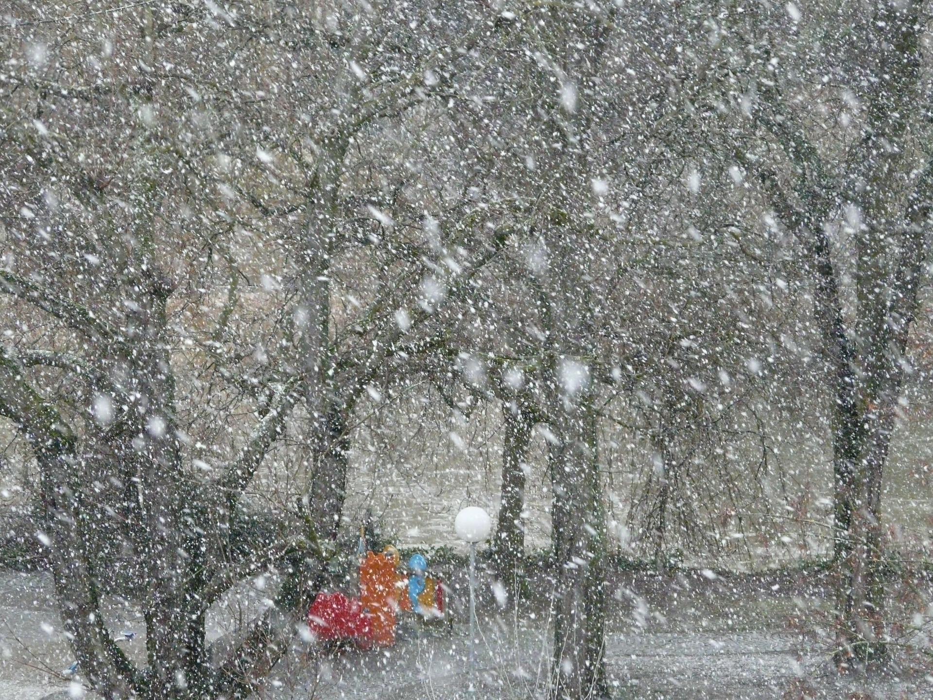 吹雪の様子