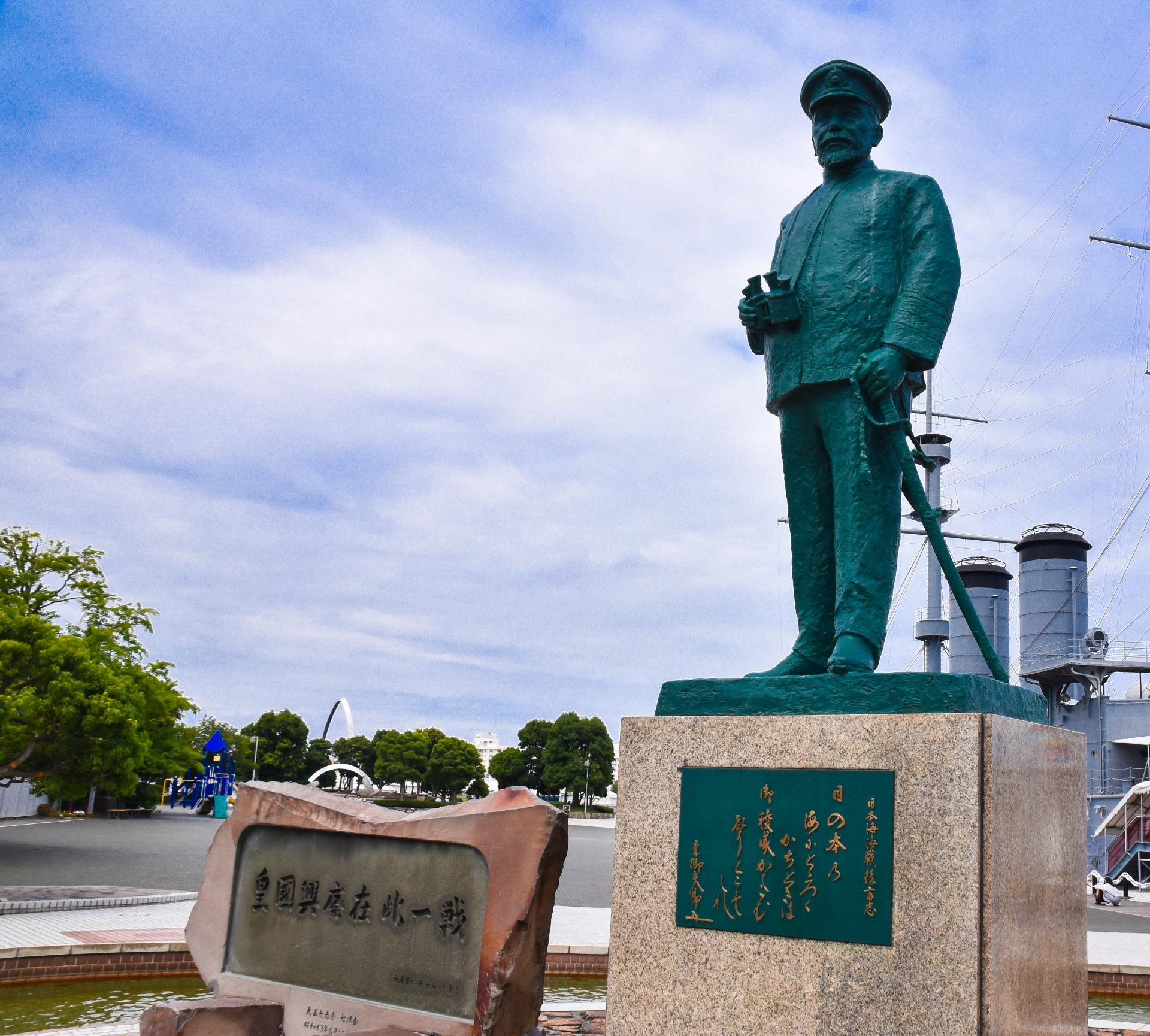 横須賀の三笠公園にある東郷平八郎像