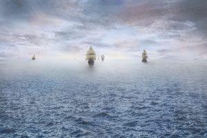 外国からやってくる舟