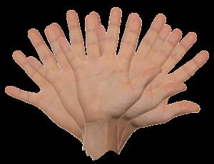 さようならのバイバイの手