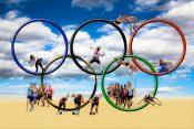 オリンピックと砂浜